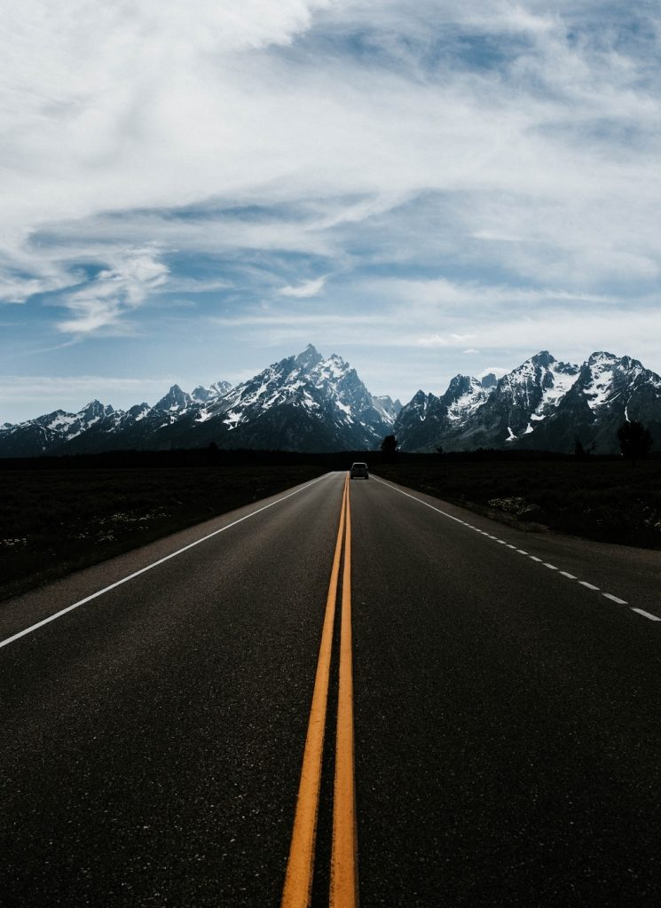 driving in grand teton