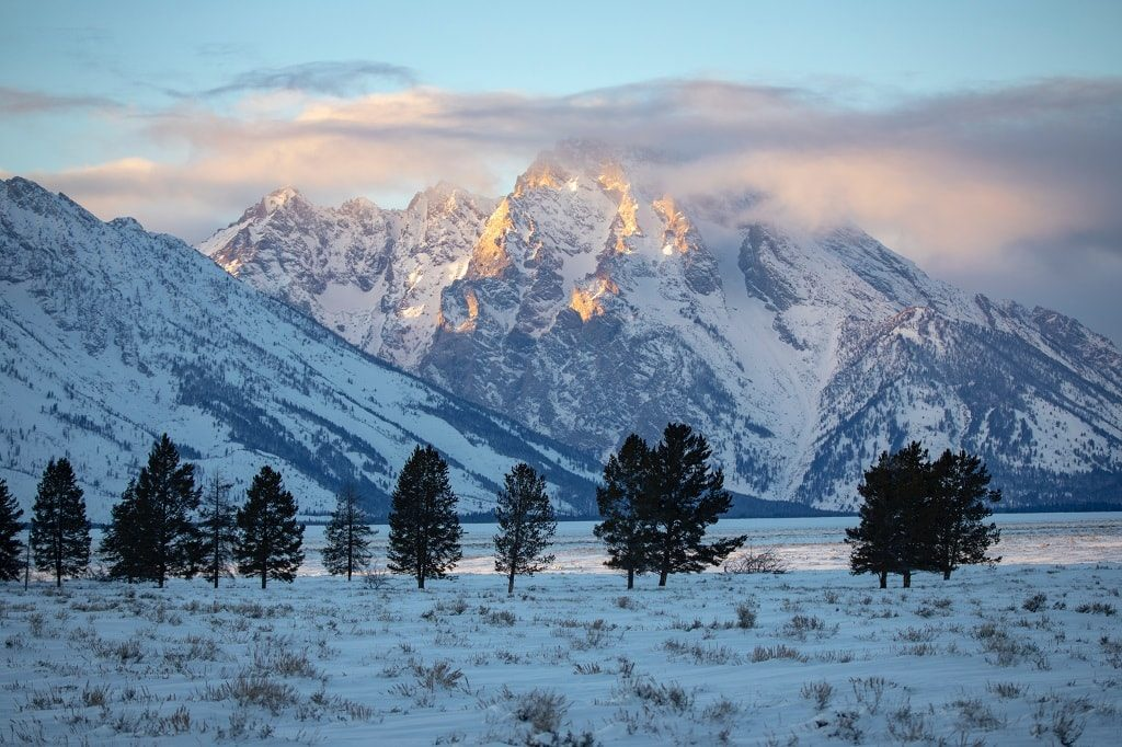 photography in grand teton in winter