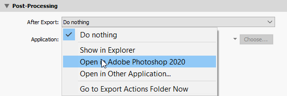 Lightroom export settings